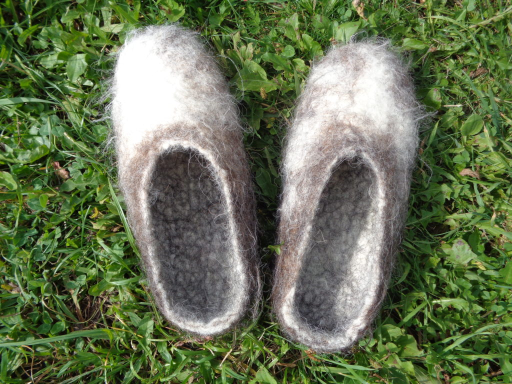 chaussons feutre naturels sans tirette