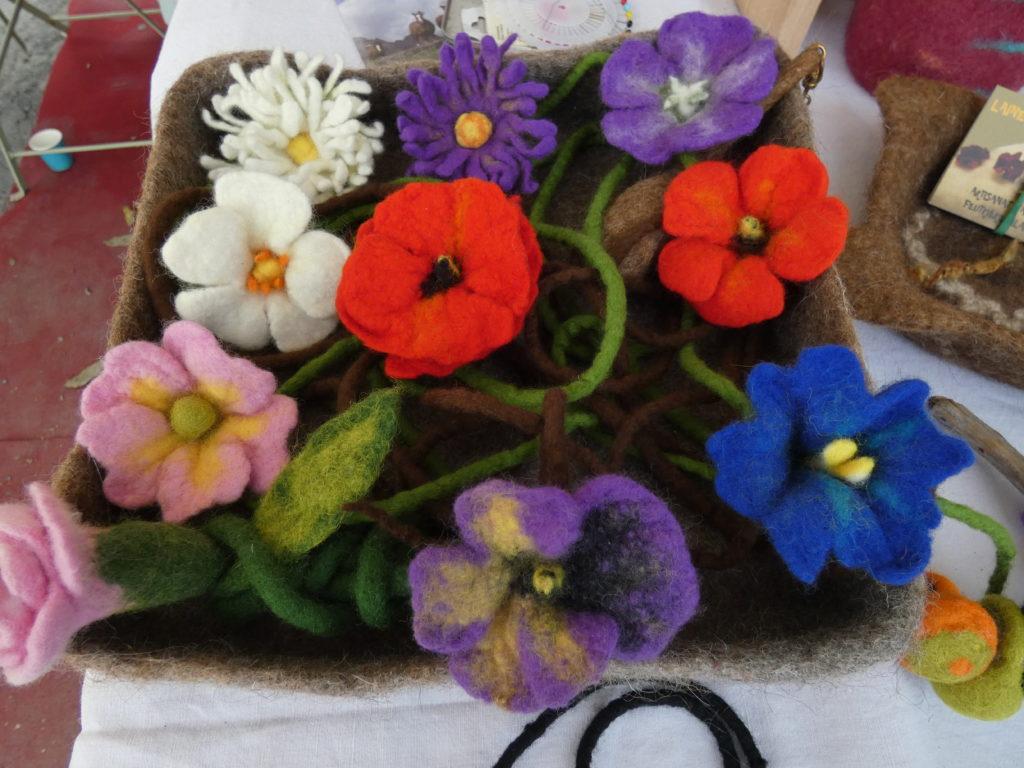 fleurs en mérinos sans couture